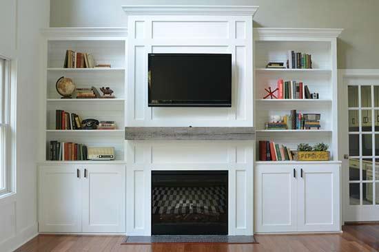 Amazing Living Room Built In Tutorial Iseeidoimake