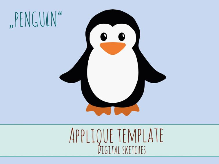 Free Sewing Pattern Penguin Applique Template I Sew Free