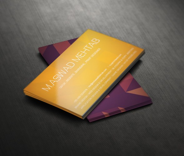 Free Business card Psd Back