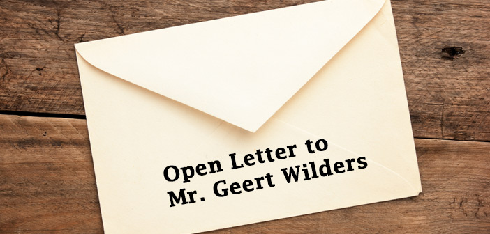 Open Letter to Mr Geert Wilders Islamic Supreme Council of Canada