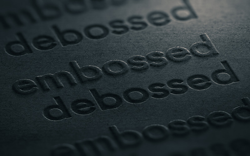 Give a Professional Vibe with Embossed Business Cards Island Printing