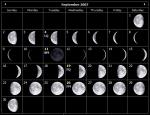 Moon Phase Calendar September