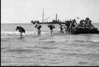 Lo sbarco dei prigionieri austro - ungarici