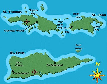 Collegamenti aerei per le Isole Vergini Americane
