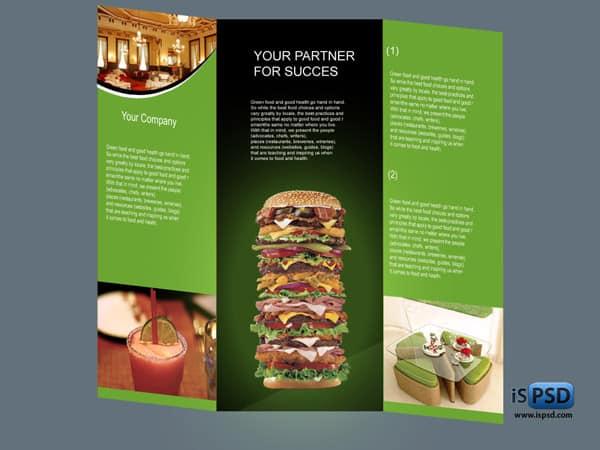 Food Flyer Brochure PSD - food brochure