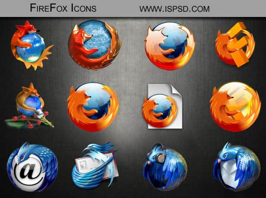 Firefox Icons PSD