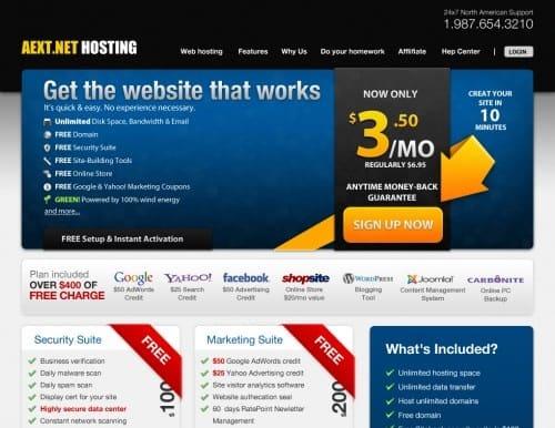 Modern Hosting Website Template