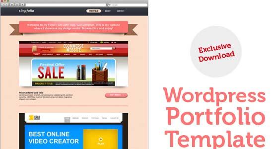WordPress portfolio PSD template