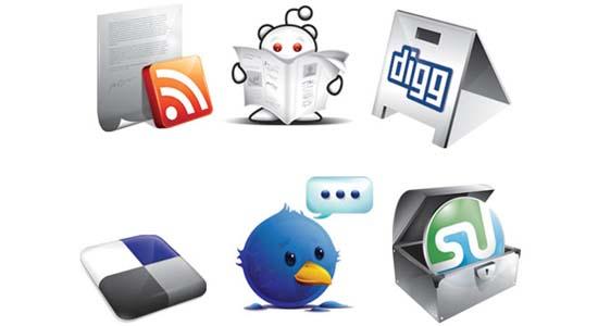 6 Free New Social Icons