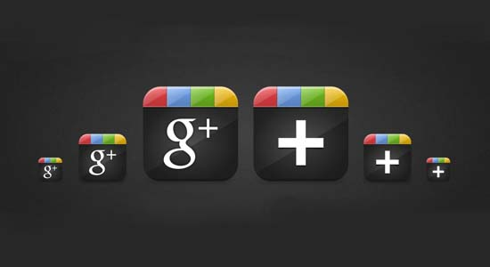 Google Plus (+) Icon Set PNG (dpp)
