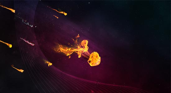Vibrant Abstract Space Artwork