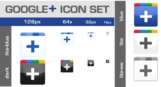 Google+ Icon Set