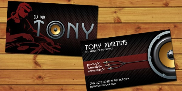 50+ Dj Music Business Cards  Designs