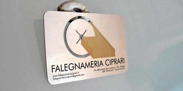 carpenter metal busniess card