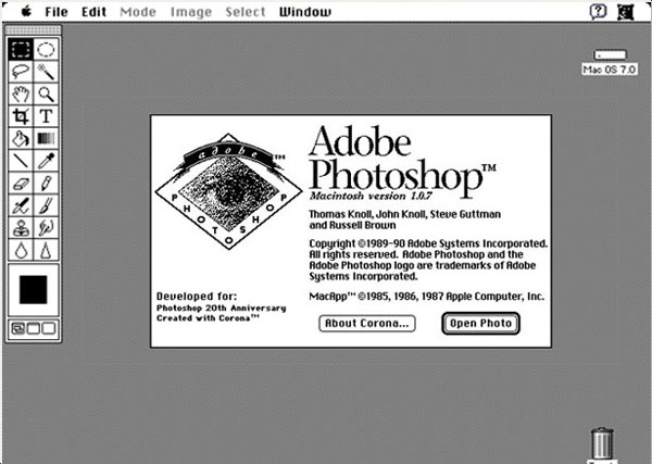 photoshop 1.0 interface