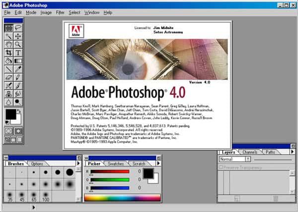 photoshop 4.0 interface