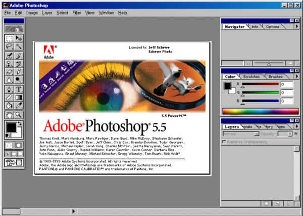 photoshop 5.5 interface