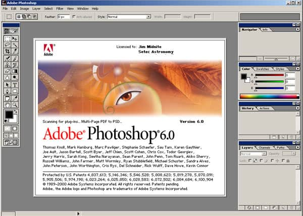 photoshop 6.0 interface