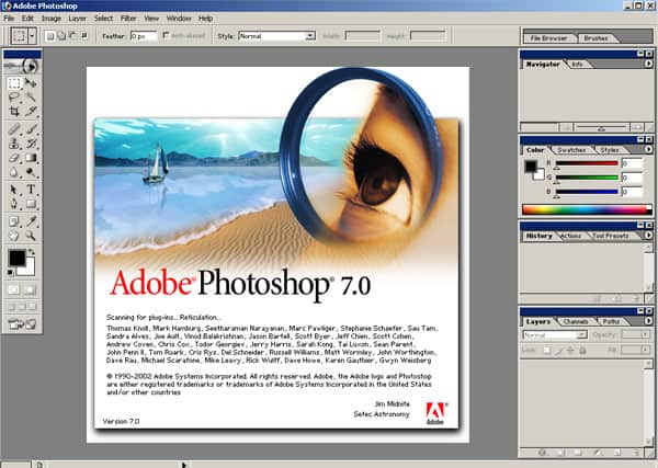 photoshop 7.0 interface