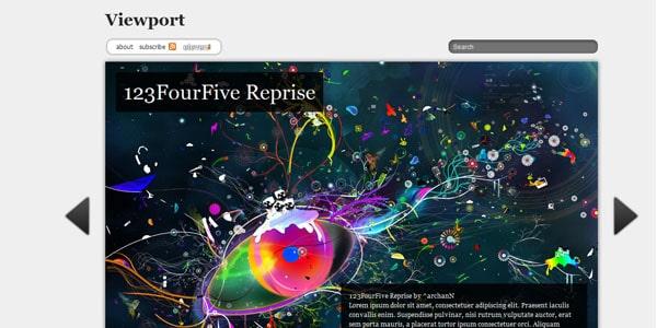viewport wordpress template