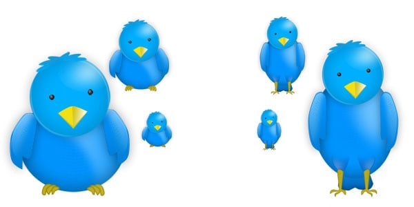High Resolution Twitter Bird Icons