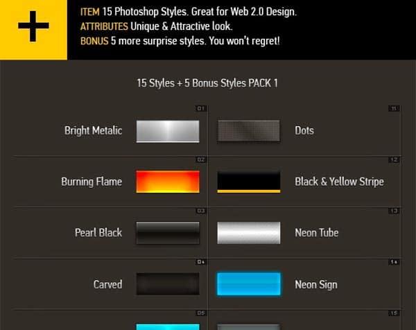 web 2.0 styles