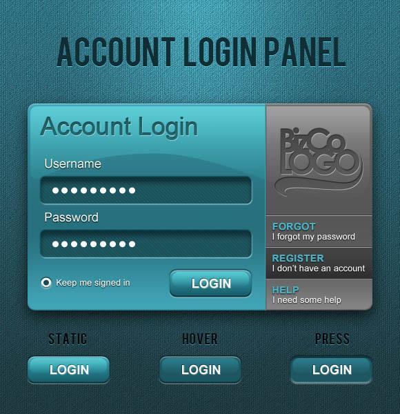 Account Login Panel