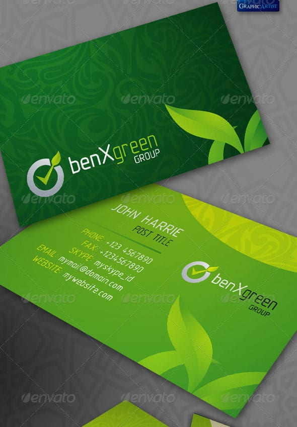 BenXGreen Corporate Business Cards