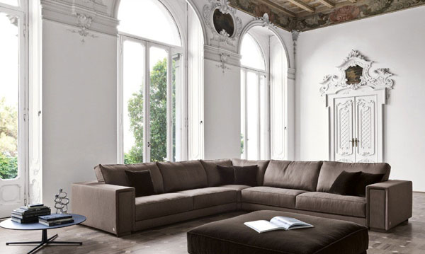 Brown color theme for Living Room