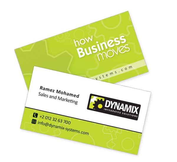 Dynamix Green Business cards