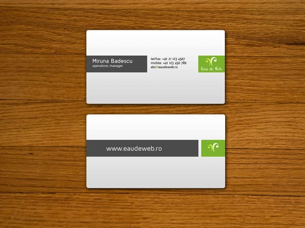 Eau de Web Business Cards