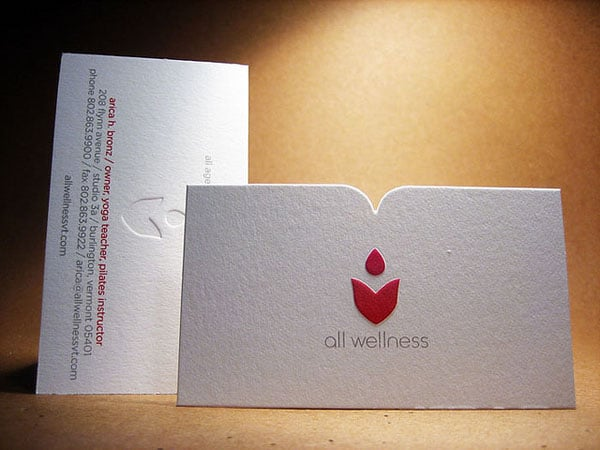 Emboss Die cut Business Card
