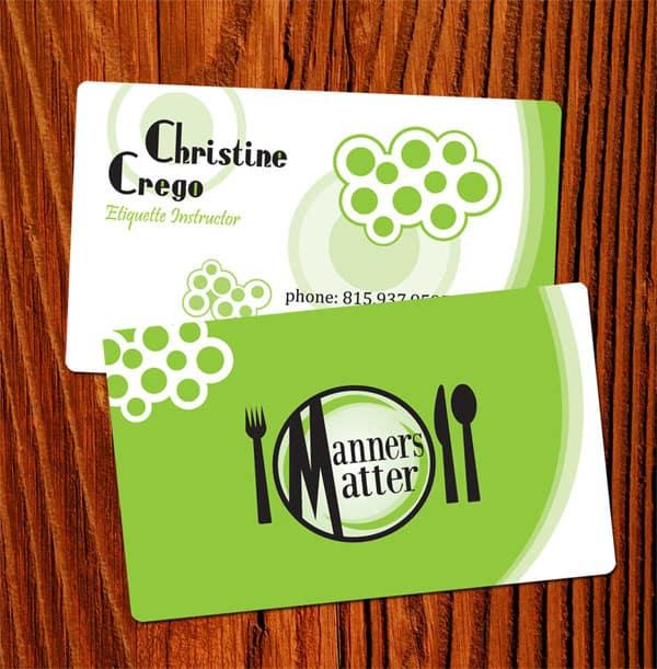 Etiquette Business Card