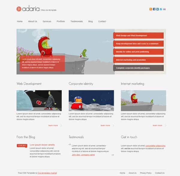 Free CSS Templates adaria