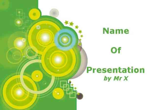 Green Circles Free Powerpoint Template