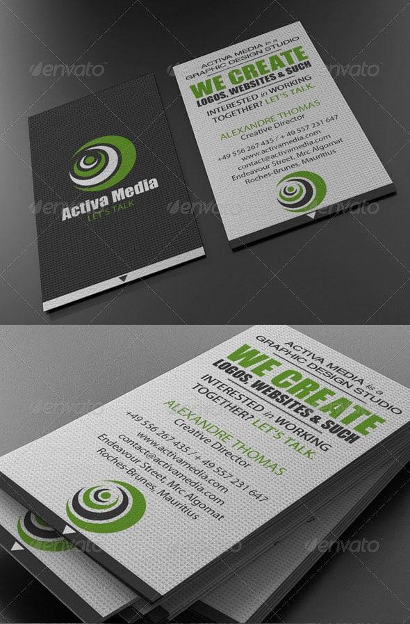 Green Designer Business Card
