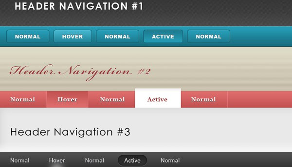 Header Navigation Pack