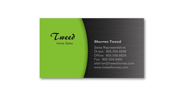 50 green business card designs