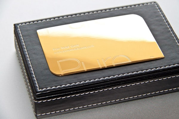 Pure Gold metal business card