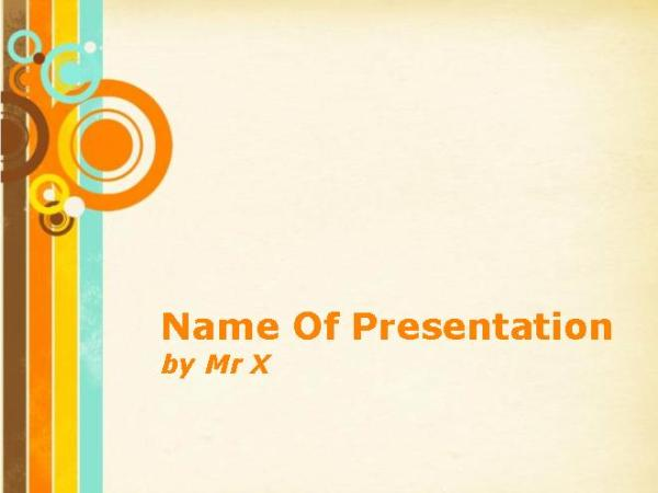 Retro Circles Free Powerpoint Template