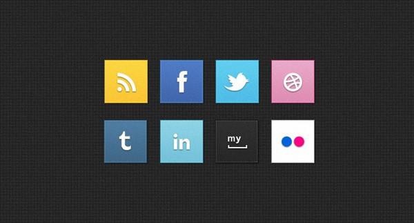 Social Square Icons