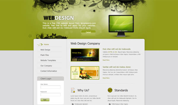 25 free dreamweaver css templates available to download