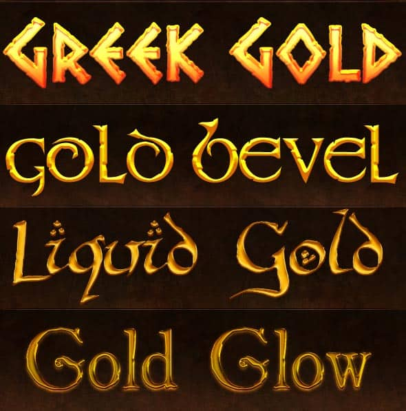 5 Gold Styles by AnilCorn