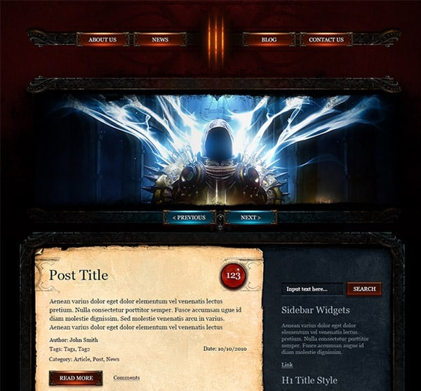 Diablo3-WordPress-Theme