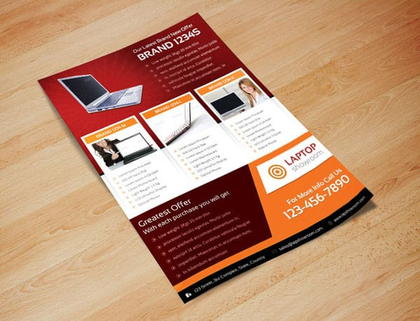 Digital Product Showcase Flyer