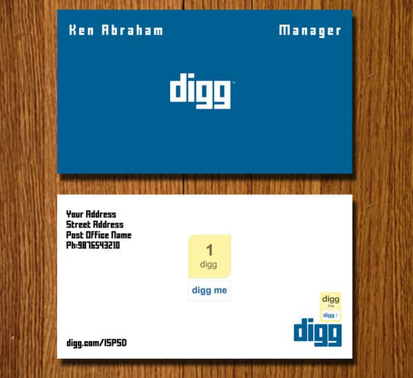 Digg business card