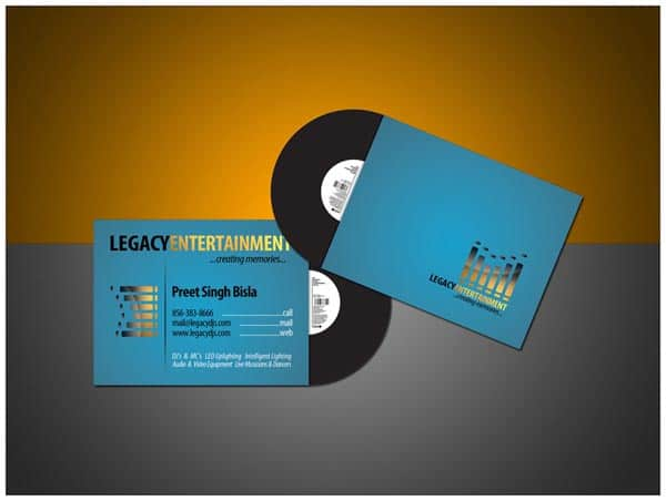 50+ Dj Music Business Cards & Designs