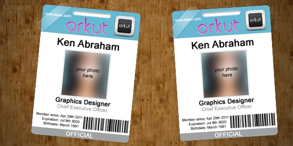 Orkut business card