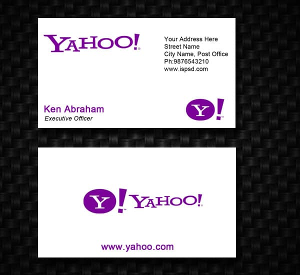 Yahoo business card