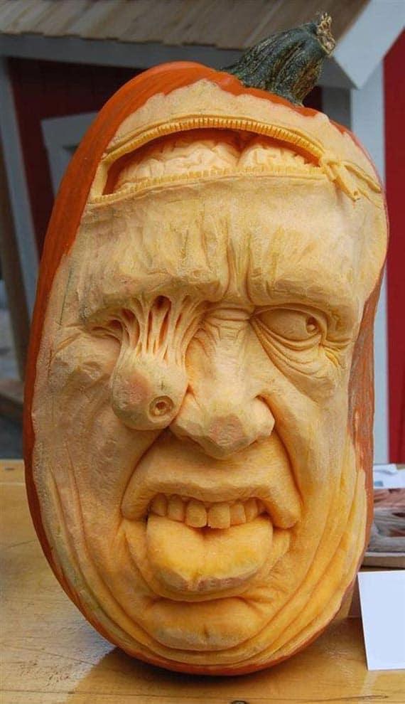 Pumpkin sculptures